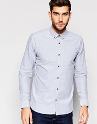Only And Sons Shirt With Button Down Collar Grey