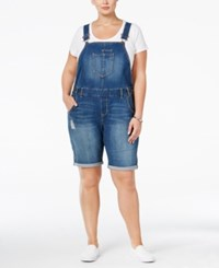 American Rag Trendy Plus Size Ripped Denim Shortalls Only At Macy's Wednesday