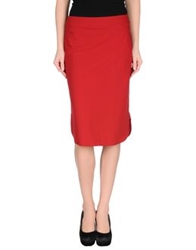 Jean Paul Gaultier Femme Knee Length Skirts Red