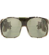 Jeremy Scott Camo Machine Gun Sunglasses Green Camouflage