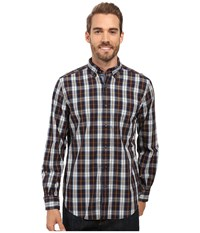 Nautica Long Sleeve Large Plaid Shirt True Navy Men's Long Sleeve Button Up
