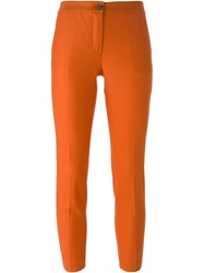 Erika Cavallini Semi Couture Skinny Fit Cropped Trousers Yellow And Orange