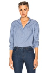 A.P.C. Sally Blouse In Blue Stripes Blue Stripes