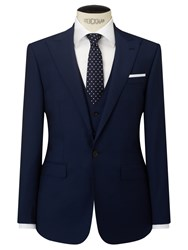 John Lewis Woven In Italy Half Canvas Mohair Tonic Tailored Suit Jacket Blue