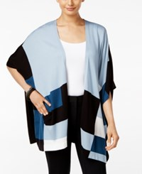 Alfani Colorblocked Open Front Poncho Cardigan Only At Macy's Colorblock Global Blue