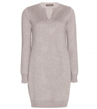 Loro Piana Winterland Cashmere Sweater Dress Brown