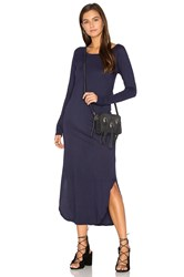 Candc California Geri Midi Dress Navy