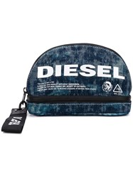 Diesel D Easy L Wash Bag Blue