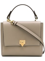 Philippe Model Foldover Top Shoulder Bag Neutrals
