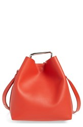 3.1 Phillip Lim 'Mini Quill' Leather Bucket Bag Red Cherry