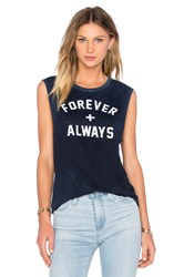 Tyler Jacobs Forever Always Cut Off Tank Navy