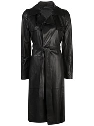 Federica Tosi Belted Trench Coat Black