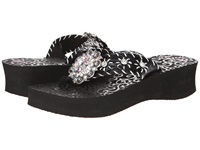 Mandf Western Megan Black Women's Sandals