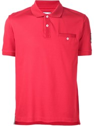 Moncler Gamme Bleu Chest Pocket Polo Shirt Red