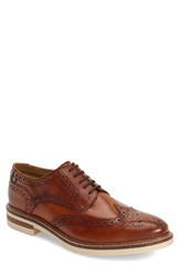 Men's Base London 'Apsley' Wingtip Oxford Tan Leather