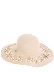 Alex Laser Cut Wool Felt Large Brim Hat