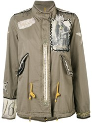History Repeats Embroidered Jacket Green