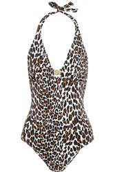 Tory Burch Reva Leopard Print Swimsuit Animal Print