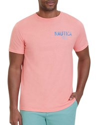 Nautica Water Color Graphic Tee Pale Coral
