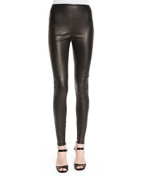 Ralph Lauren Eleanora Leather Leggings Black