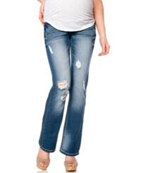 Motherhood Maternity Bootcut Distressed Maternity Jeans