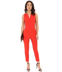 Bb Dakota Keegan Heavy Crepe Jumpsuit With Back Cut Out Siracha Women's Jumpsuit And Rompers One Piece Red