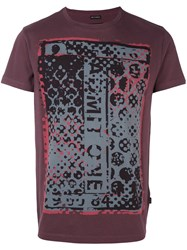 Marc Jacobs Abstract Print T Shirt Pink And Purple