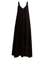 Elizabeth And James Laverne V Neck Crepe Dress Black