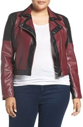 Tart Plus Size Women's 'Justine' Colorbock Faux Leather Jacket