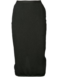 Rick Owens Soft Pillar Skirt Black
