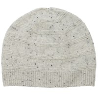 Pure Collection Leslie Cashmere Textured Hat Heather Grey Fleck