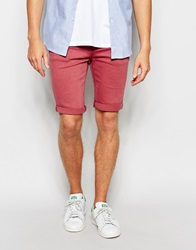 New Look Skinny Fit Denim Shorts Pink