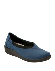 Clarks Cushion Soft Cloudsteppers Sillian Jetay Slip On Shoes Dark Blue