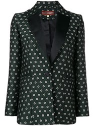 Alexachung Alexa Chung Floral Tailored Blazer Green