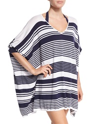 Tommy Bahama Oversized Stripe Coverup Sweater Mare White