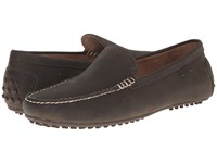 Polo Ralph Lauren Woodley Dark Olive Waxy Pull Up Men's Slip On Shoes Black