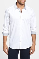 Ted Baker Modern Slim Fit Plancuf Stretch Long Sleeve Sport Shirt White