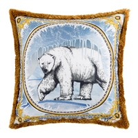 Versace Silk Animal Cushion 50X50cm Ben