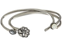 Marc Jacobs Daisy Cuff Bracelet Set Crystal Antique Silver