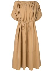 Co Belted Midi Dress Brown