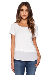 Heather Short Sleeve Top White