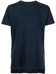 Zanerobe High Low Hem T Shirt Blue
