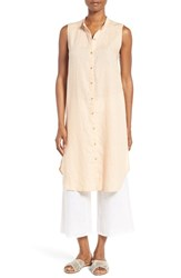 Eileen Fisher Women's Organic Linen Tunic Shirt Buff