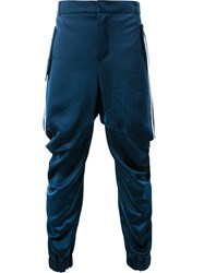 Moohong Gathered Leg Tapered Trousers Blue