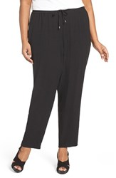 Eileen Fisher Plus Size Women's Silk Crepe Ankle Pants
