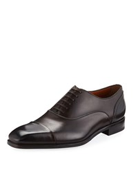 Ermenegildo Zegna Milano Blake Cap Toe Oxford Brown