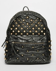 Aldo Pu Backpack With Studs Charcoal