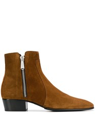 Balmain Mike Ankle Boots Brown
