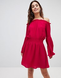 Na Kd Wide Sleeve Off Shoulder Dress Pink