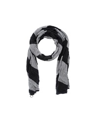 Grey Daniele Alessandrini Oblong Scarves Light Grey